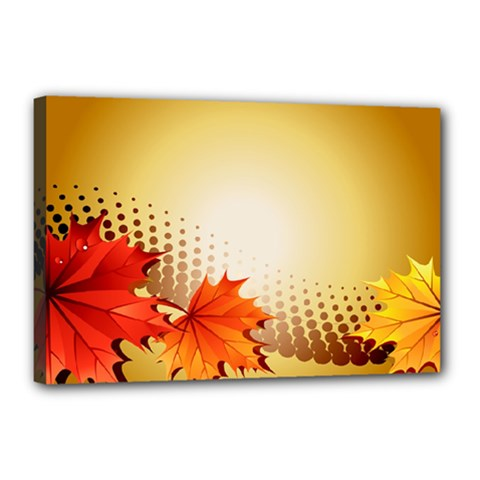 Background Leaves Dry Leaf Nature Canvas 18  X 12  by Simbadda