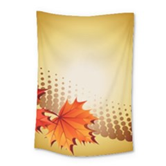 Background Leaves Dry Leaf Nature Small Tapestry by Simbadda