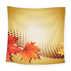 Background Leaves Dry Leaf Nature Square Tapestry (large) by Simbadda