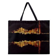 Waste Incineration Incinerator Zipper Large Tote Bag by Simbadda