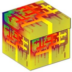 Binary Binary Code Binary System Storage Stool 12   by Simbadda