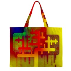 Binary Binary Code Binary System Zipper Mini Tote Bag by Simbadda
