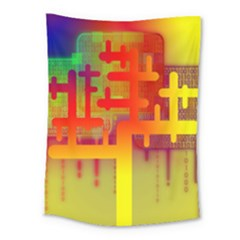 Binary Binary Code Binary System Medium Tapestry by Simbadda