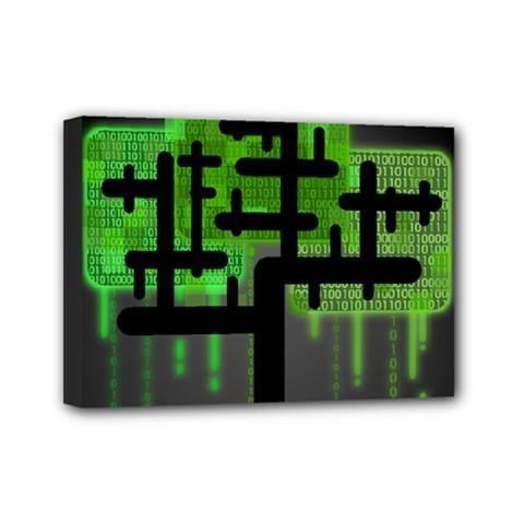 Binary Binary Code Binary System Mini Canvas 7  X 5  by Simbadda