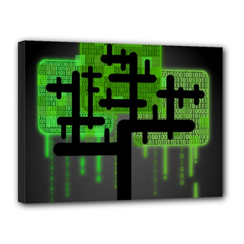 Binary Binary Code Binary System Canvas 16  X 12  by Simbadda