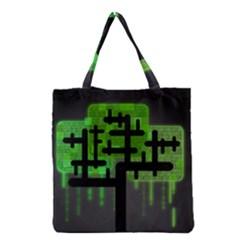 Binary Binary Code Binary System Grocery Tote Bag by Simbadda