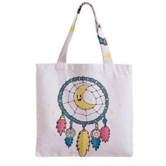 Cute Hand Drawn Dreamcatcher Illustration Grocery Tote Bag by TastefulDesigns