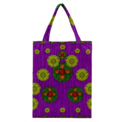 Buddha Blessings Fantasy Classic Tote Bag by pepitasart