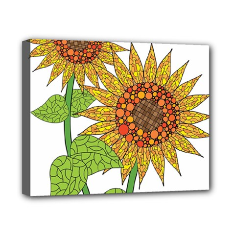 Sunflowers Flower Bloom Nature Canvas 10  X 8  by Simbadda