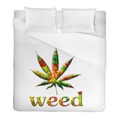 Marijuana Leaf Bright Graphic Duvet Cover (full/ Double Size) by Simbadda