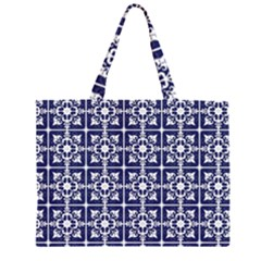 Leaves Horizontal Grey Urban Zipper Large Tote Bag by Simbadda