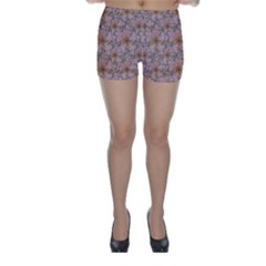 Nature Collage Print Skinny Shorts by dflcprintsclothing