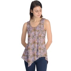 Nature Collage Print Sleeveless Tunic by dflcprintsclothing