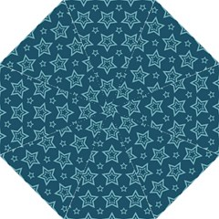 Star Blue White Line Space Folding Umbrellas by Alisyart