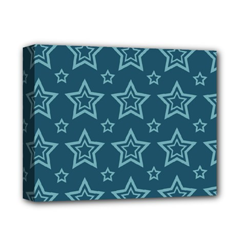 Star Blue White Line Space Deluxe Canvas 14  X 11  by Alisyart