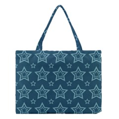 Star Blue White Line Space Medium Tote Bag by Alisyart