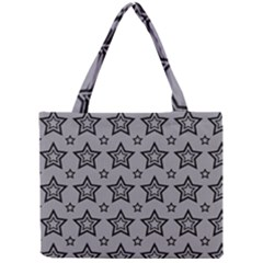 Star Grey Black Line Space Mini Tote Bag by Alisyart
