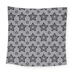 Star Grey Black Line Space Square Tapestry (large) by Alisyart
