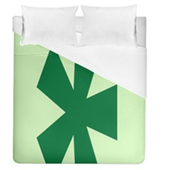Starburst Shapes Large Circle Green Duvet Cover (Queen Size) by Alisyart