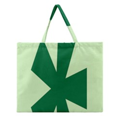Starburst Shapes Large Circle Green Zipper Large Tote Bag by Alisyart