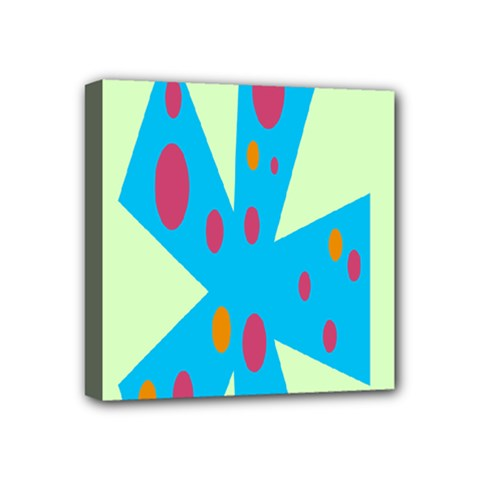 Starburst Shapes Large Circle Green Blue Red Orange Circle Mini Canvas 4  X 4  by Alisyart
