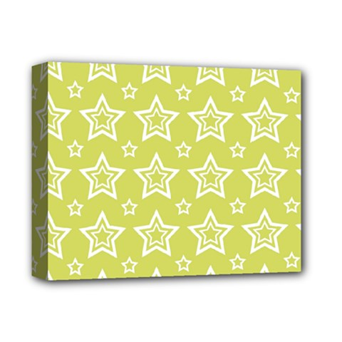 Star Yellow White Line Space Deluxe Canvas 14  X 11  by Alisyart