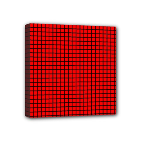 Red And Black Mini Canvas 4  X 4  by PhotoNOLA
