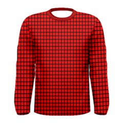 Red And Black Men s Long Sleeve Tee by PhotoNOLA