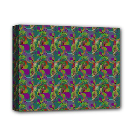 Pattern Abstract Paisley Swirls Deluxe Canvas 14  X 11  by Simbadda