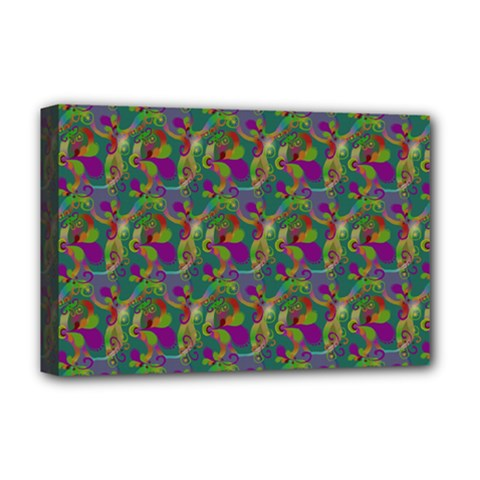 Pattern Abstract Paisley Swirls Deluxe Canvas 18  X 12   by Simbadda