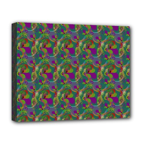 Pattern Abstract Paisley Swirls Deluxe Canvas 20  X 16   by Simbadda