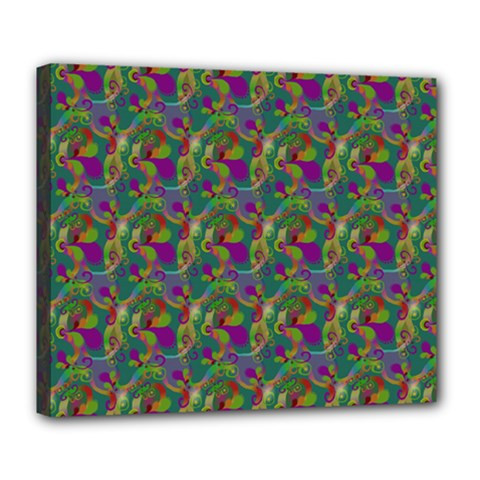Pattern Abstract Paisley Swirls Deluxe Canvas 24  X 20   by Simbadda