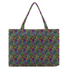 Pattern Abstract Paisley Swirls Medium Zipper Tote Bag by Simbadda