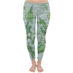 On Wood May Lily Of The Valley Classic Winter Leggings by Simbadda