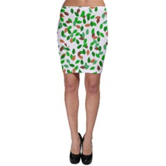 Leaves True Leaves Autumn Green Bodycon Skirt by Simbadda