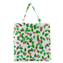 Leaves True Leaves Autumn Green Grocery Tote Bag by Simbadda