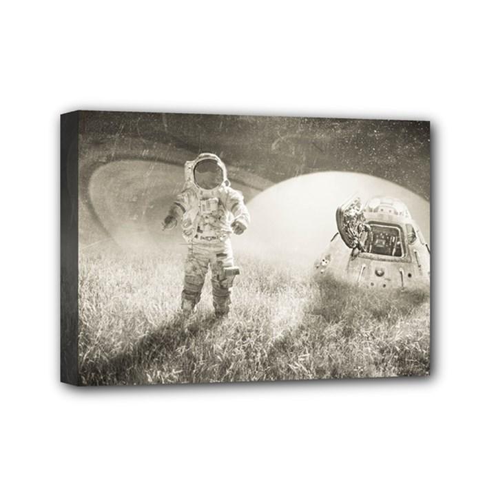 Astronaut Space Travel Space Mini Canvas 7  x 5
