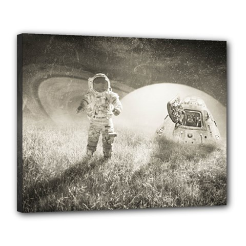 Astronaut Space Travel Space Canvas 20  X 16  by Simbadda