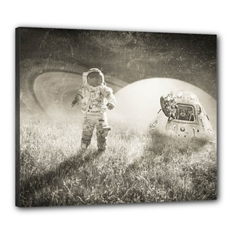 Astronaut Space Travel Space Canvas 24  X 20  by Simbadda