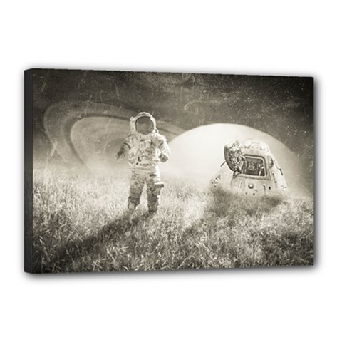 Astronaut Space Travel Space Canvas 18  X 12  by Simbadda
