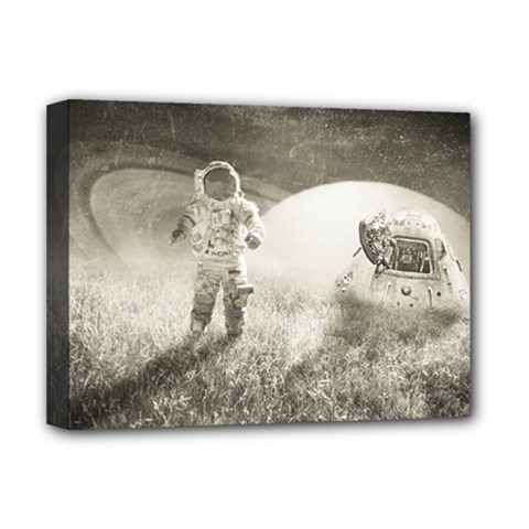 Astronaut Space Travel Space Deluxe Canvas 16  X 12   by Simbadda