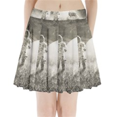 Astronaut Space Travel Space Pleated Mini Skirt by Simbadda