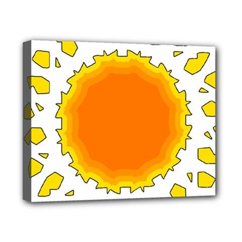 Sun Hot Orange Yrllow Light Canvas 10  X 8  by Alisyart