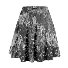 Fern Raindrops Spiderweb Cobweb High Waist Skirt by Simbadda