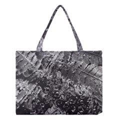 Fern Raindrops Spiderweb Cobweb Medium Tote Bag by Simbadda