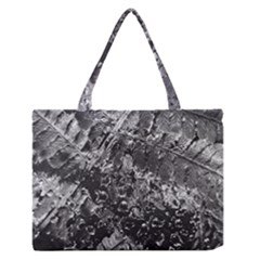 Fern Raindrops Spiderweb Cobweb Medium Zipper Tote Bag by Simbadda