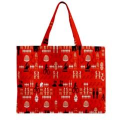 Traditional Wayang Zipper Mini Tote Bag