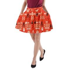 Traditional Wayang A Line Pocket Skirt by Alisyart