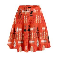 Traditional Wayang High Waist Skirt by Alisyart