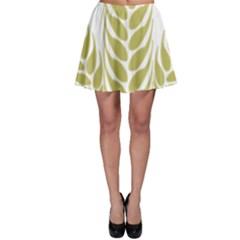 Tree Wheat Skater Skirt by Alisyart